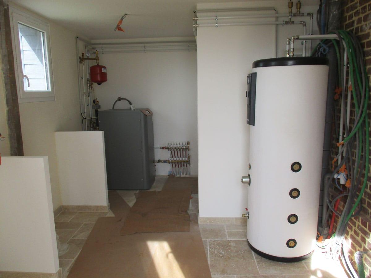 Chauffage : Géothermie eau/eau + Ballon