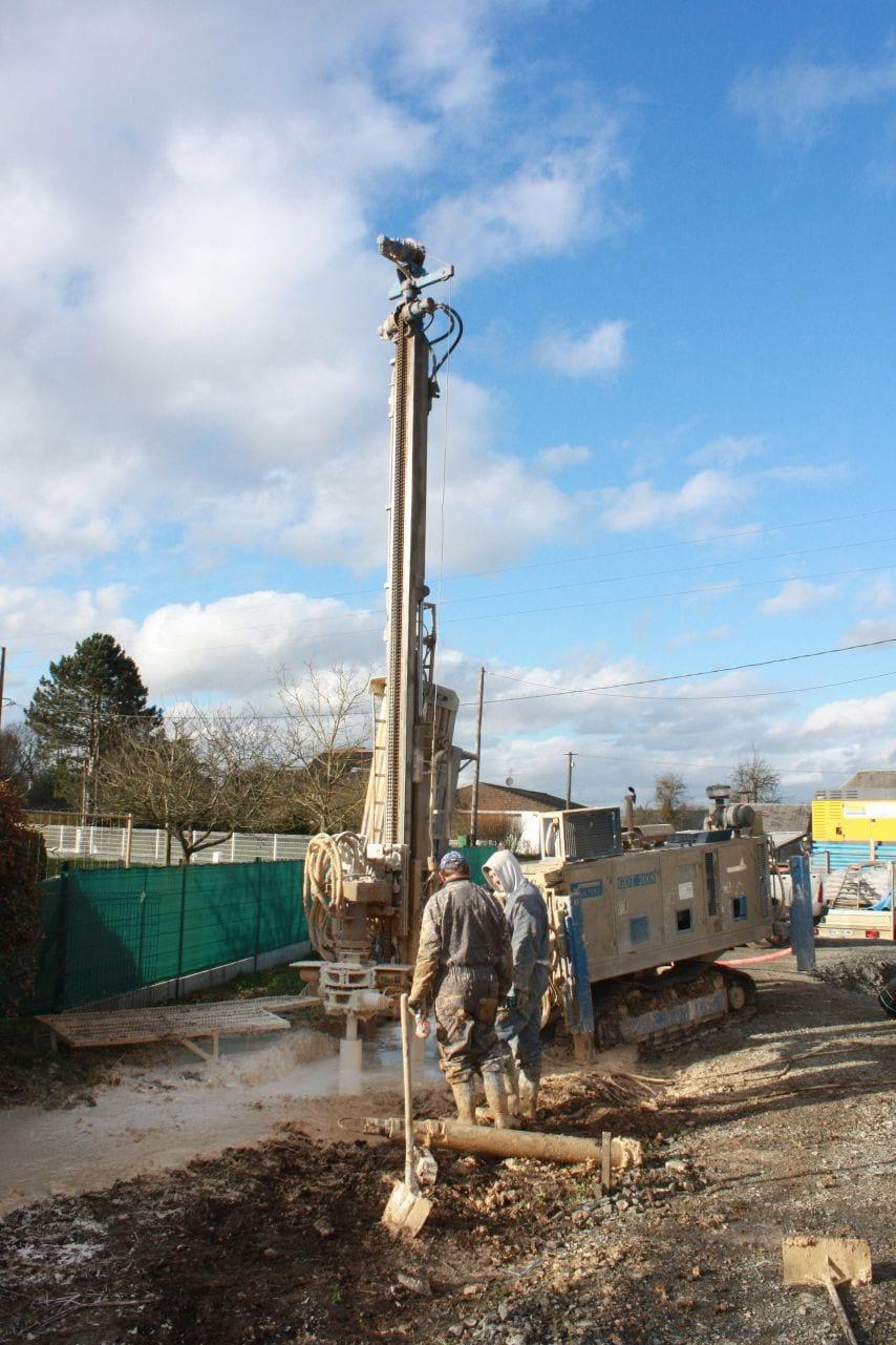 Forage pour geothermie à captage vertical
