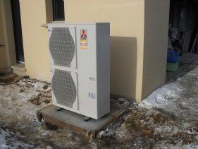 Pompe extérieur Système Géothermique et Eau Chaude Sanitaire
