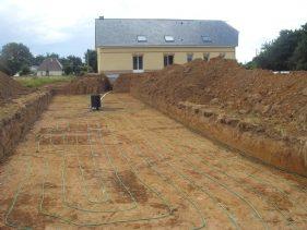 Construction sol Système Géothermique