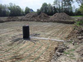 Sol Système géothermique construction