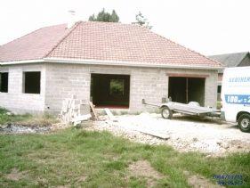 Vue extérieur maison construction