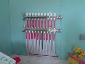 Branchement tuyaux intérieur Système Aérothermique