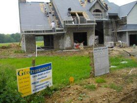 Maison en construction Système Aérothermique