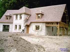 Vue extérieur construction