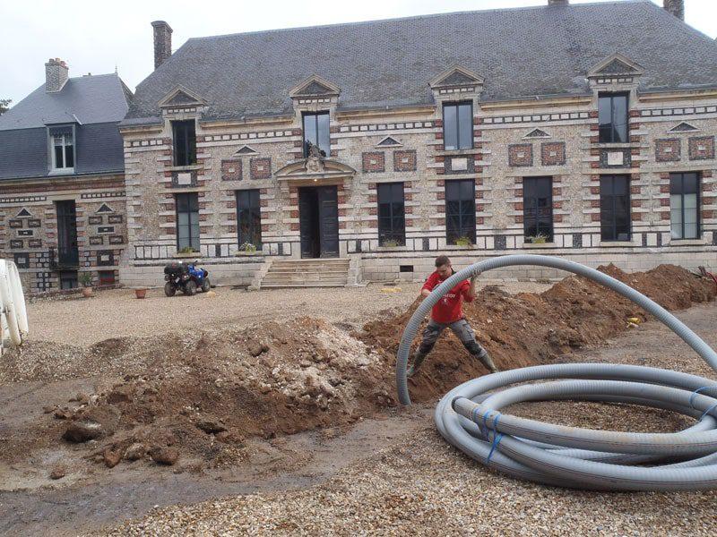 pompe à chaleur de 100 kw sur forage d'eau.