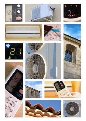 diverses illustration de pompe à chaleur