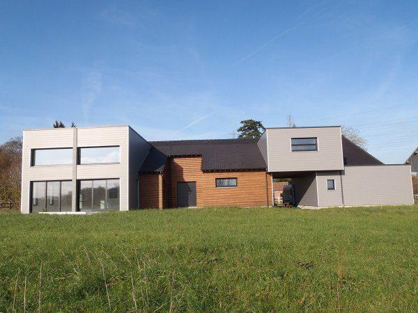 géothermie horizontale vue maison extérieur
